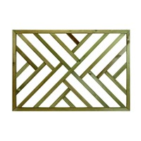 Richard Burbidge 760mm x 1130mm x 36mm Crosshatch shaped timber panel which is designed to decorate and add some privacy to the perimter of a decking area.
