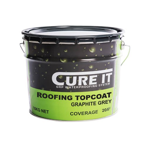 Cure It 10kg Roofing Topcoat Graphite Grey 25m2 Approx