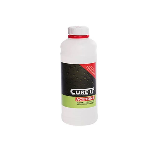 Cure It 1ltr Acetone Solvent Cleaner