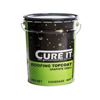 20kg graphite grey with a coverage of 50m2. Roofing Topcoat provides the finished colour and surface appearance.