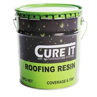Cure It Roofing Resin in 10kg tub is a component part of single-ply GRP laminate system consisting of Roofing Resin and Reinforcement Mat which is applied in situ over a good quality OSB3 deck. The roof is finished with pre-formed GRP edge trims and a coat of pre-pigmented topcoat.