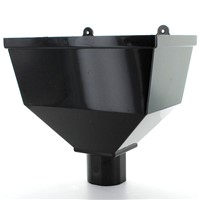 Hunter BR014 Black 68mm Downpipe Hopper
