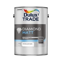 Dulux Trade 5L Pure Brilliant White Diamond Vinyl Matt