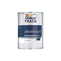 Dulux Trade 2.5L Pure Brilliant White Undercoat is a solvent-based undercoat which provides superb opacity and its high level of sheen means it has excellent gloss retention. Suitable for application on correctly primed and prepared interior and exterior wood and metal surfaces.