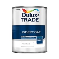 Dulux Trade Pure Brilliant White Undercoat is a solvent-based undercoat which provides superb opacity and its high level of sheen means it has excellent gloss retention. Suitable for application on correctly primed and prepared interior and exterior wood and metal surfaces.