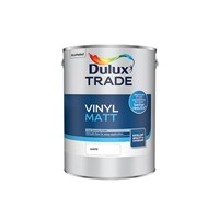 Dulux Trade White Vinyl Matt is a premium quality opacity emulsion which provides superb coverage for everyday living. Dulux has developed an improved in-can consistency which provides a smooth flow for easy application whilst maintaining a high quality finish. Suitable for all ceiling and normal interior wall surfaces.