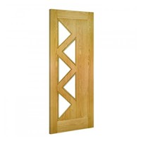 Ely 5L Glazed Oak Door
