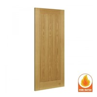 Ely Internal Unfinished Oak Fire Door 2040x926x45mm