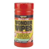 Multi-Use Wonder Wipes have become the first choice wipe of the nations builders and tradesmen. Specially formulated to clean hands, tools and surfaces from wet and semi-cured paint, sealant, adhesive, bitumen, expanding foam, oil, grease and even silicone. Particularly useful when there is no water on site.