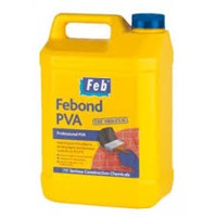 Febond PVA in 5 litre container is the original multi-purpose quick drying PVA adhesive, sealer and bonding agent and cement admixture which has many applications in the building and construction markets. Ideal primer and sealer for concrete and plaster.