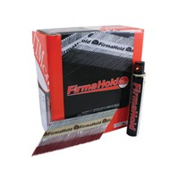 FirmaHold smooth bright collated 90mm x 3.1mm nails complete with gas. Multiple levels of rust protection with diamond point for easy and effective penetration. Pack size: 2200 & 2 Fuel Cells (CBRT90G).