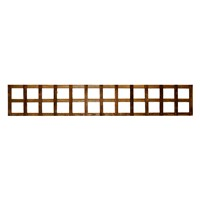 "1828x305mm (12"") Heavy Duty Square Trellis Brown Treated"