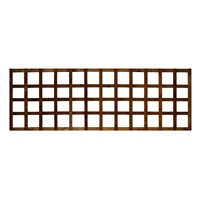 "1828x610mm (24"") Heavy Duty Square Trellis Brown Treated"