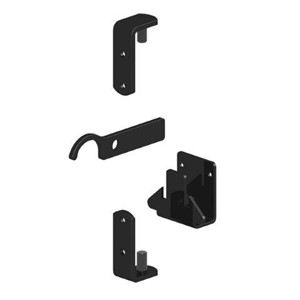 Birkdale Gatemate Standard Black Metal Gate Fixing Kit is easily fitted to masonry or a metal gate post alike. It is suitable for our Ascot and Windsor entrance gates as offers a secure, lockable, durable latch and hinge set.
