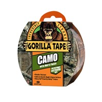 Gorilla 8m length Camo tape. Ideal for outdoor applications including tree stands, tent repairs and so much more. No other camo duct tape on the market offers the pattern clarity, depth, and matte surface finish like Gorilla Tape Camo.
