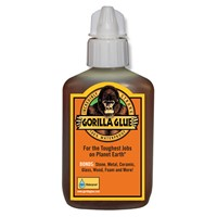 Gorilla Glue is a 100% waterproof glue, safe for indoor and outdoor use and strong enough to stand up to the elements. Gorilla Glue's your solution for almost any project or repair. Sand it, paint it, stain it. Simply stated, it's the Toughest Glue on Planet Earth. 1L size