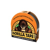 Gorilla 32m length black tape. Made with double thick adhesive, strong reinforced backing, and a tough all-weather shell. It sticks to rough and uneven surfaces, including wood, stone, stucco and brick, that ordinary tapes can't hold.