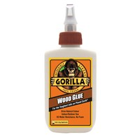 Gorilla 236ml Wood Glue is the adhesive that woodworkers, carpenters and hobbyists trust for their woodworking projects. The PVA glue, offers the benefits of an easy-to use, water-based adhesive, with the holding power Gorilla is known for. This PVA glue is incredibly water resistant and dries a natural color that offers an invisible bond line for your projects.