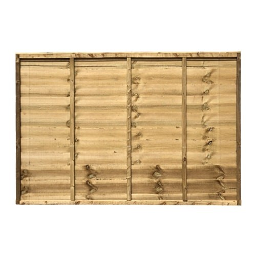 1218x1828mm 4 Green Pressure Treated Lap Fence Panel