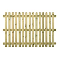 Open pale picket fencing is a traditional style of fence using posts, horizontal rails and vertical pales with gaps between each pale. These panels are constructed from treated planed all round timber and pre-assemble, so you only have to attach them to fence posts to create a fence.