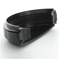 Hunter Plastics Black 112mm Gutter External Stopend