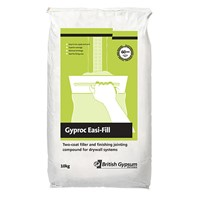 Gyproc Easi-Fill is designed for both bulk filling and finishing of joints, Gyproc Easi-Fill has a 60 minute working time and the second (final) coat can be applied after 140 minutes.