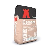 Hanson General Purpose Cement in Paper Bag 25kg.  Uses include general use in concrete, mortar, render and screed, also known as DUST or OPC.