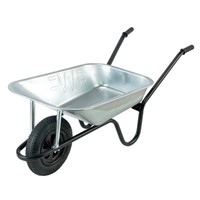 Contractor Galv 85ltr Extra Heavy Duty Wheelbarrow Pneumatic Wheel