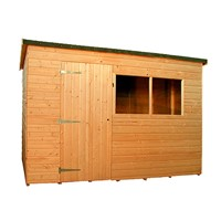 The Kent Pent Workshop 1.8 x 1.2m is one of our most adaptable units and is robustly constructed from heavy duty timber cladding and framing. It comes with a fully framed and braced door, which can be placed in different positions, and 15mm shiplap T&G cladding throughout. All units are factory treated and stained with a water based red cedar colour treatment, and supplied with heavy 20kg roofing felt, glass, trims and all fixings required to install the building.