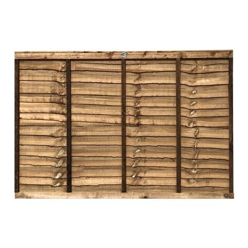 1218x1828mm 4 39 brown pressure treated lap fence panel. Black Bedroom Furniture Sets. Home Design Ideas