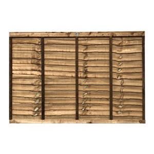 1218x1828mm (4') Brown Pressure Treated Lap Fence Panel