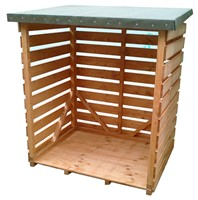 Lawsons Logstore 1200 x 760 x 1400mm has a fully open front, 12mm thick tongue & grooved floor & felted roof, 15mm thick slatted sides and back. The whole product is factory treated to prevent timber decay and the 45 x 34mm sturdy framing, which has corner bracing, makes this unit ideal for free standing log storage.