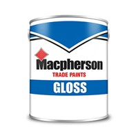 Macpherson 1 litre brilliant white gloss paint provides a desirable high sheen finish and due to the premium quality alkyd resin in the formulation, those aesthetics will stand the test of time.