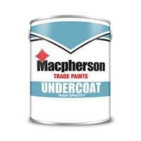 Macpherson 1 litre white undercoat allows you to get the best results from Macpherson Gloss paint. Its great coverage and easy flowing properties make it the ideal non-absorbant base to achieve optimum impact from high sheen gloss colours.