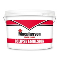 Macpherson 15 litre magnolia eclipse is an interior water-based matt finish emulsion paint.  High moustire permeability enables application to new plaster & render before the dryng process is complete.
