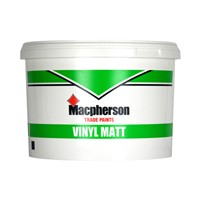 Macpherson 5 litre magnolia vinyl matt is robust and practical with a visually appealing finish. Perfect for most interior wall and ceiling applications where a matt finish is desired.