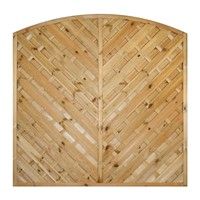 Decorative fence panels are constructed from treated planed all round timber within a 35mm thick frame and are designed to create a unique feature in your garden. The can be installed with either timber or concrete posts & gravel boards, however please note that they measure 1.830 metres wide.