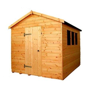 The Major Apex 6.0 x 3.0m shed has the advantage of a door with a Rim Lock, full tongue and grooved timber floors and roofs, thick 15mm cladding, and are constructed using solid 60 x 50mm timber framing to ensure a long life. The single door is 790 x 1850mm and the unit has an eaves height of 1.98m. It is factory treated and stained with a water based red cedar colour treatment, and supplied with heavy 20kg roofing felt, glass, trims and all fixings required to install the building.