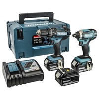 Makita DLX2131JX1 18v Combi + Impact + 3no 3ah Batteries