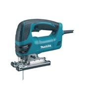 Makita Orbital Jig Saw Model 4350FCTX1 features a new exterior design with ergonomic rubberised handle and features Job Light as well as coming complete various blades.