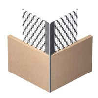 Expamet's Micro Mesh angle bead is a thin coat bead made from galvanised steel. Finishing any corner section of plasterboards with a smart looking, strong profile.