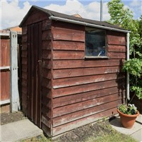 Knock Down & Takeaway Old 1.8x1.8m Timber Panel Shed