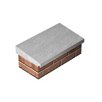 Supreme once weathered 405mm x 915mm straight concrete coping. Designed to provide the perfect finishing touch to walls, piers and parapets.