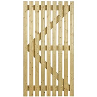 Orchard Flat Top 1750x915mm Treated LB Slatted Gate