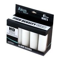 "Axus White HD Foam Rollers 4""  Pack of 10"