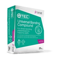 Bonding Compound is available in 25kg bags and can be used for bonding plasterboards and insulating boards directly to walls or metal channels.