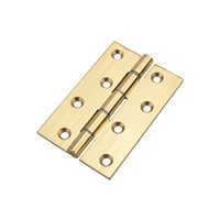 Frisco Polished Brass 100mm Double Steel Washered Butt Hinge J14770
