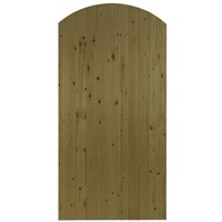 Priory Arch Top 1830x900mm Brown Treated LB T&G Matchboard Gate