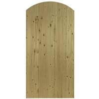 The Priory Arch Top is a  natural softwood side gate using tongue and grooved match boarding with an arched top offering privacy and security. The Priory is ledged and multi braced. Supplied in pressure treated softwood for durability. The Priory has a width of 0.9m and a height of 1.83m.
