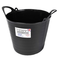 Rhino Heavy Duty Flex Tub 12ltr Black